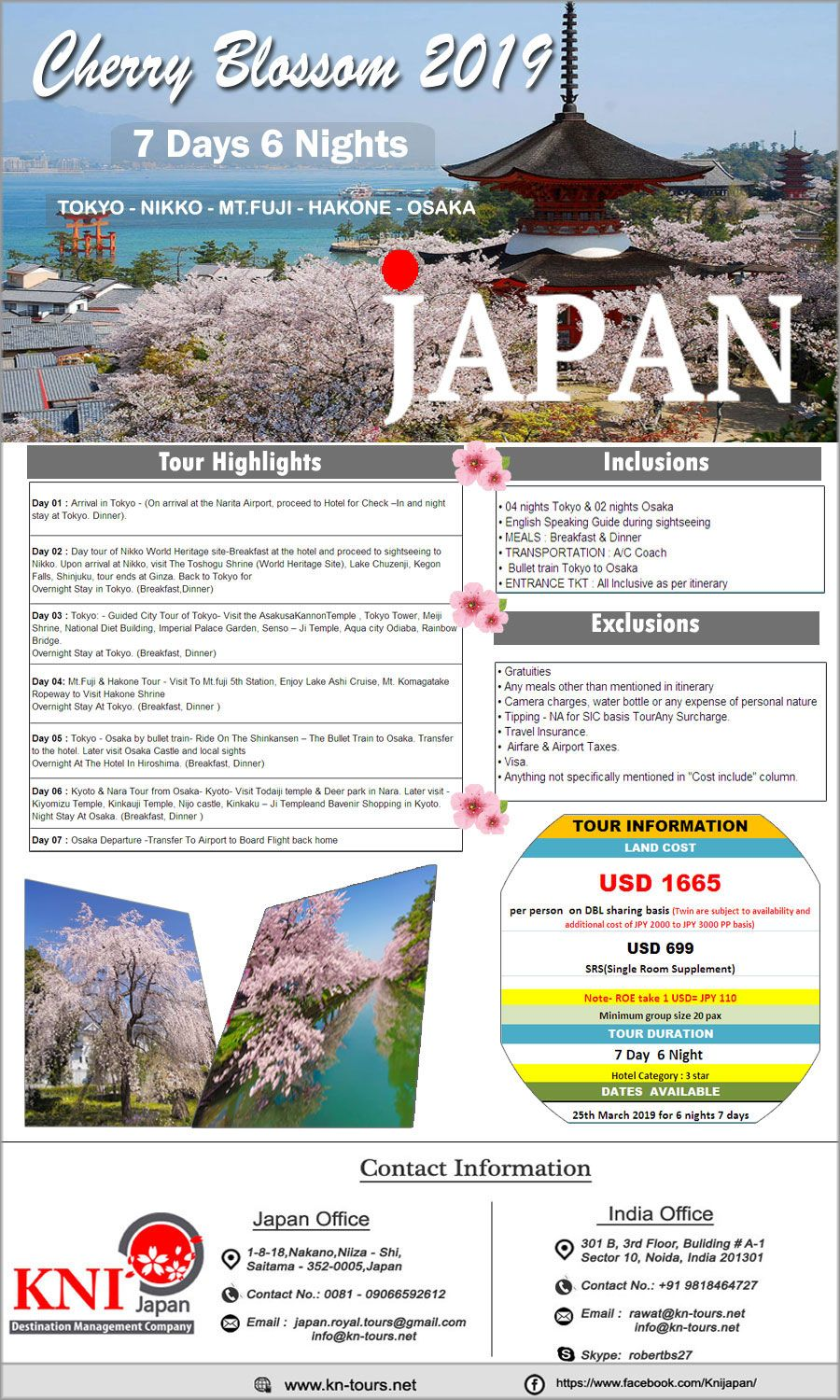Cherry Blossom Tour Packages 2019