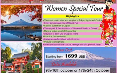 Women Special Autumn Tours from KNI Japan