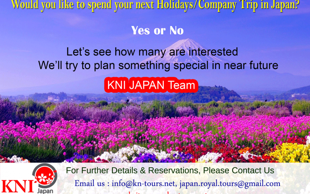 Would you like to spend your next Holidays/Company Trip in Japan?