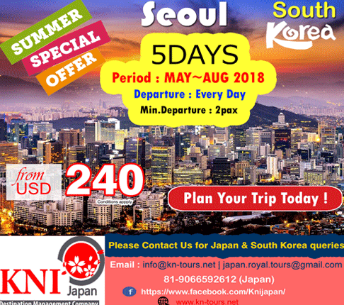 SUMMER SPECIAL OFFER FOR SEOUL SOUTH KOREA