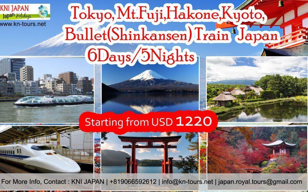Tokyo, Mt.Fuji,Hakone,Kyoto, Bullet(Shinkansen) Train JapanTOUR 6D/5N