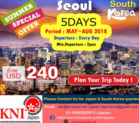 SUMMER SPECIAL OFFER FOR SEOUL SOUTH KOREA